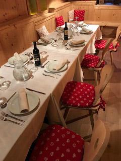 Sala ristorante Coronata Haus
